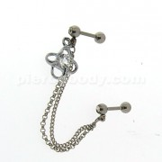 Surgical Steel Helix Slave Piercing with Jeweled Bow