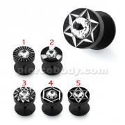 Black line Jeweled laser Cut Invisible Ear plug