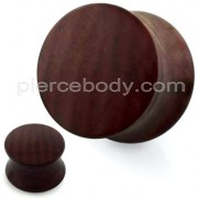 Plain Brown Wood Pattern UV Acrylic Double Flared Saddle Plug