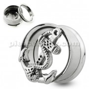 Vintage Anchor Screw Fit Flesh Tunnel