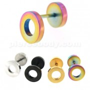 10 mm Flat Disc with Hole Invisible Fake Ear Plug