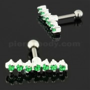 sweep of 7 Stones 925 Sterling Silver Cartilage Tragus Piercing
