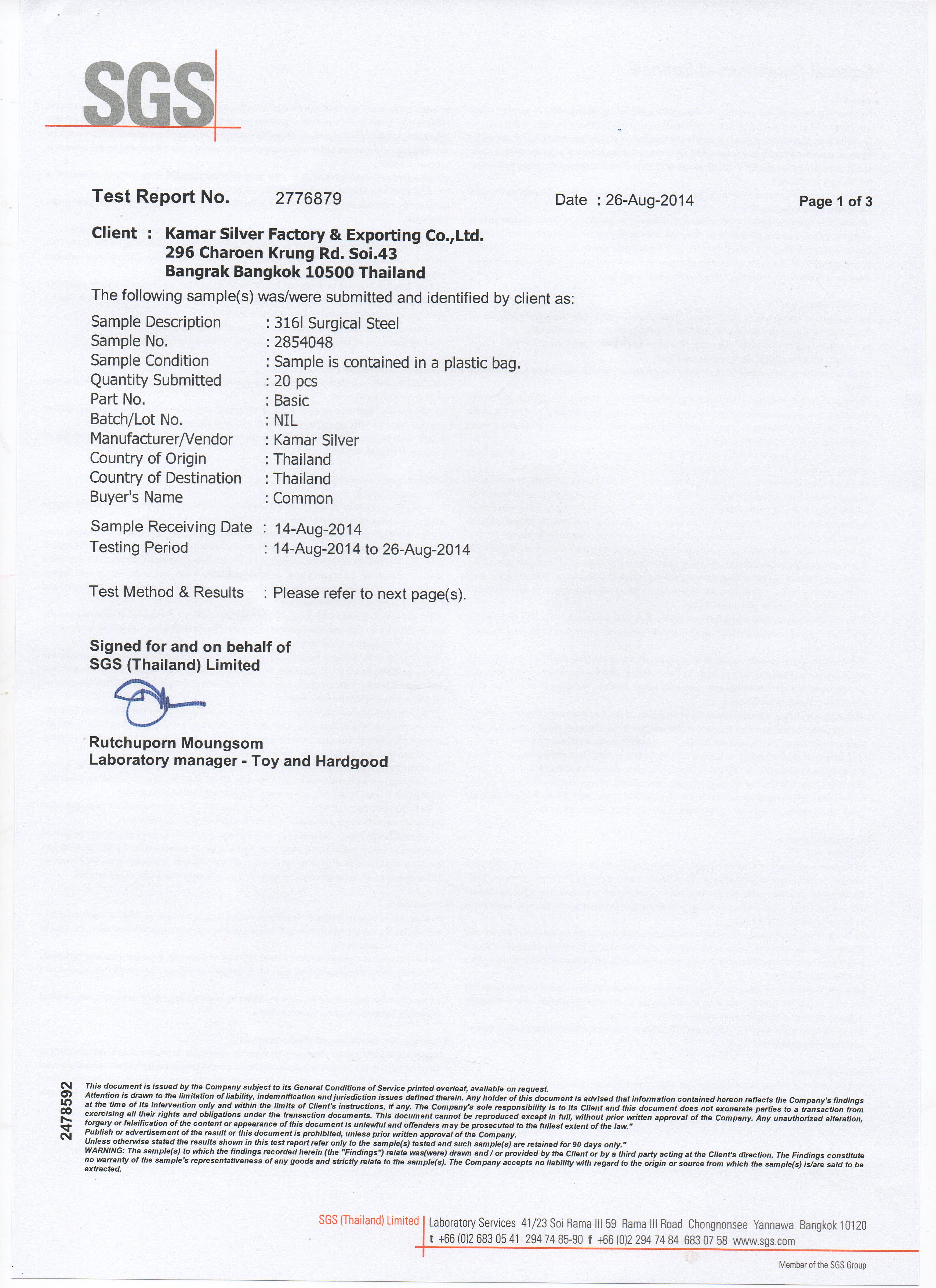 316L Certified